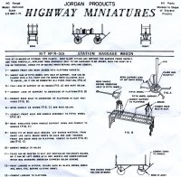 Jordan R-301 Station Baggage Wagon Instructions